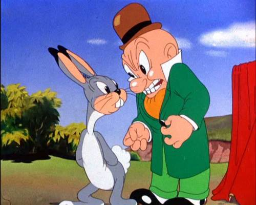 Elmer Fudd and Buggs Bunny