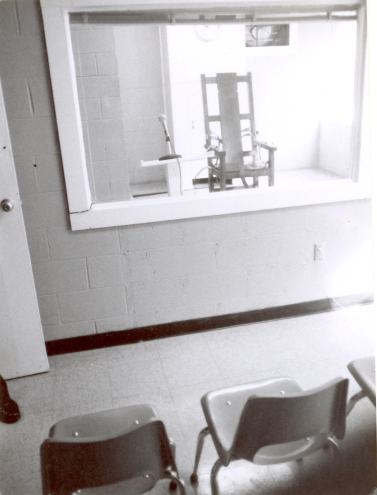 View of Electric Chair From Witness Room 1984
